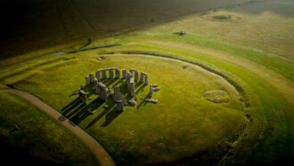 Stonehenge monument seen from above