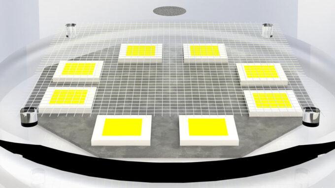 microflier levitating above a platform