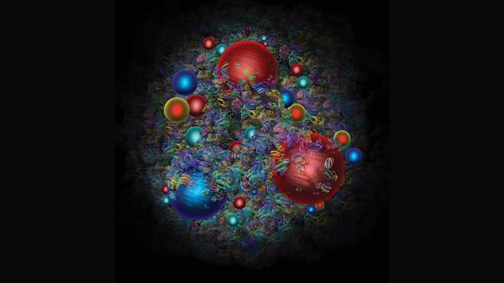 quarks and antiquarks inside a proton