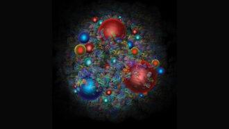 quarks and antiquarks inside a proton