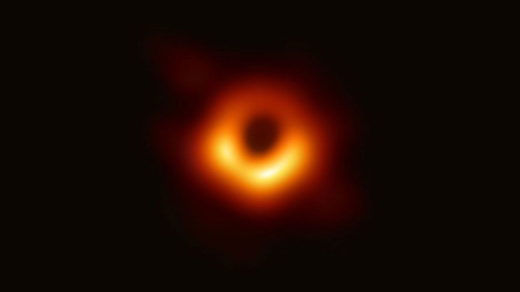 EHT zwart gat afbeelding