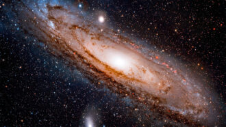 image of Andromeda galaxy