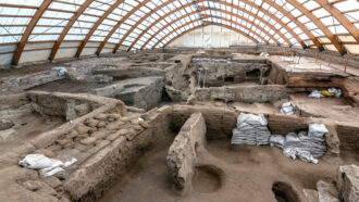 archaeological structures from ancient city of Çatalhöyük