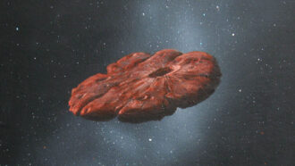 illustration of 'Oumuamua