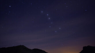 image of the big dipper constellation in the sky