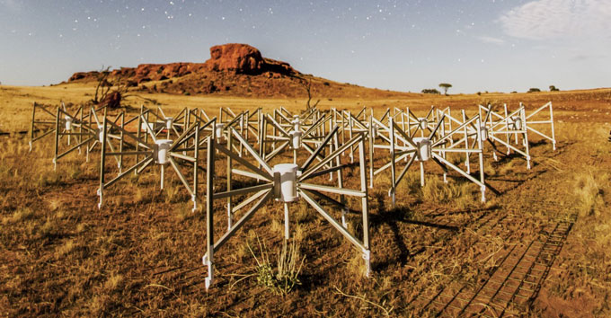 field of antennas in the Murchison Widefield Array