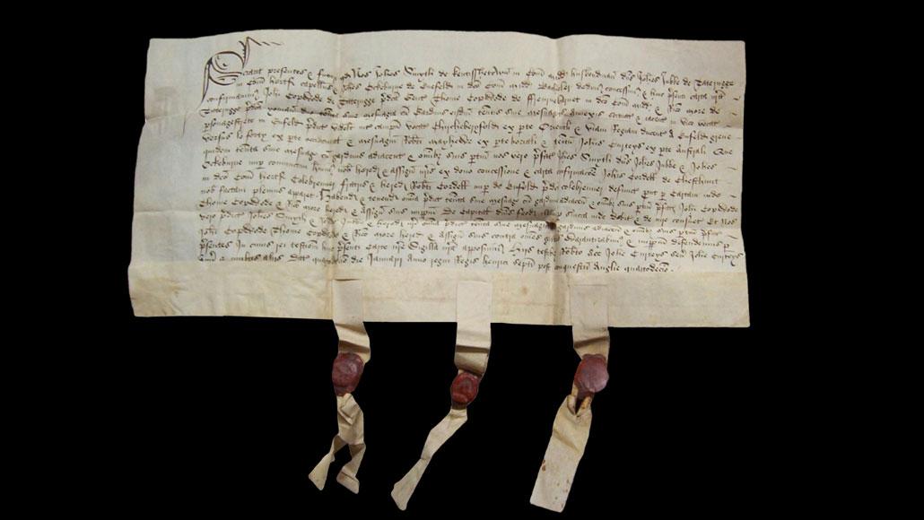 sheepskin parchment deed