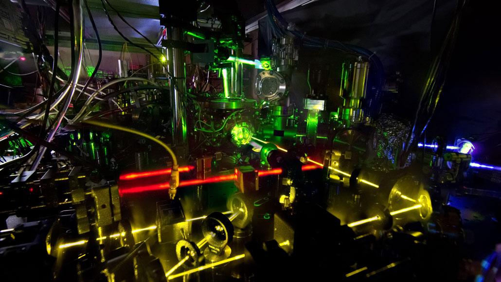 a ytterbium atomic clock in a NIST lab
