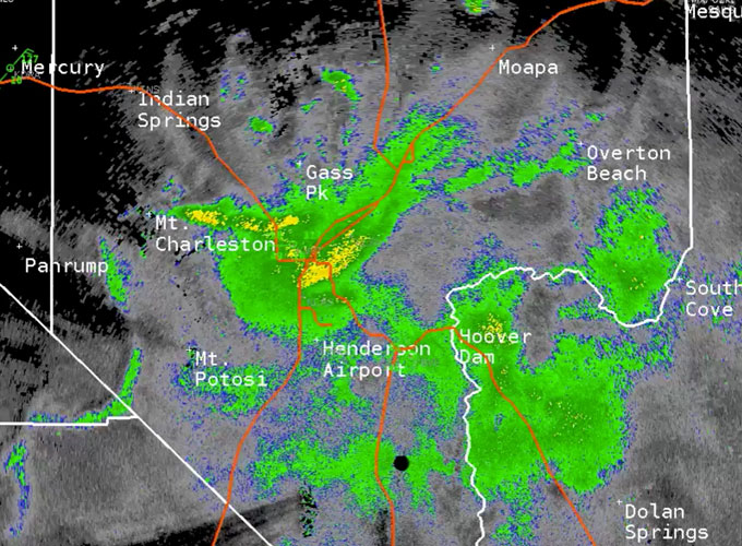 radar image of grasshopper cloud above Las Vegas