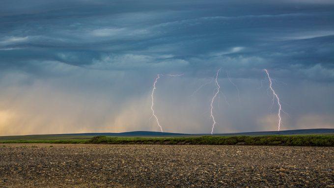 lightning over Alaska