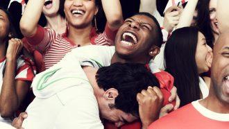 Humans recognize joyful screams faster than fearful screams