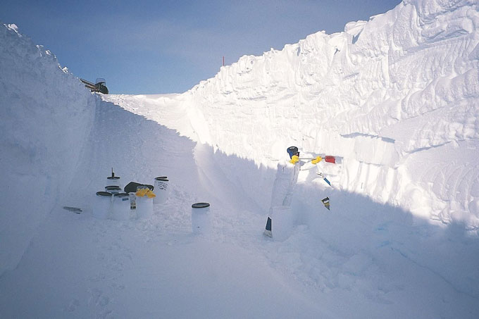 trench in Antarctica