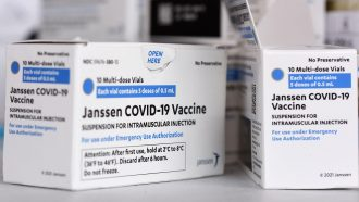 box packaging for the Janssen/Johnson & Johnson vaccine