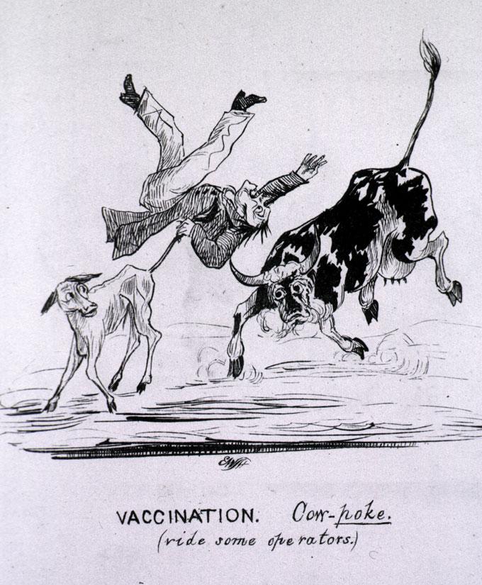 un desen animat politic împotriva vaccinării