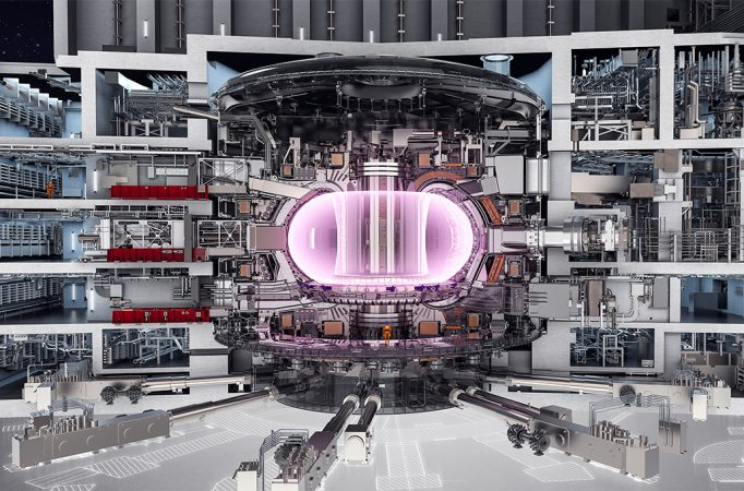illustration of ITER experiment