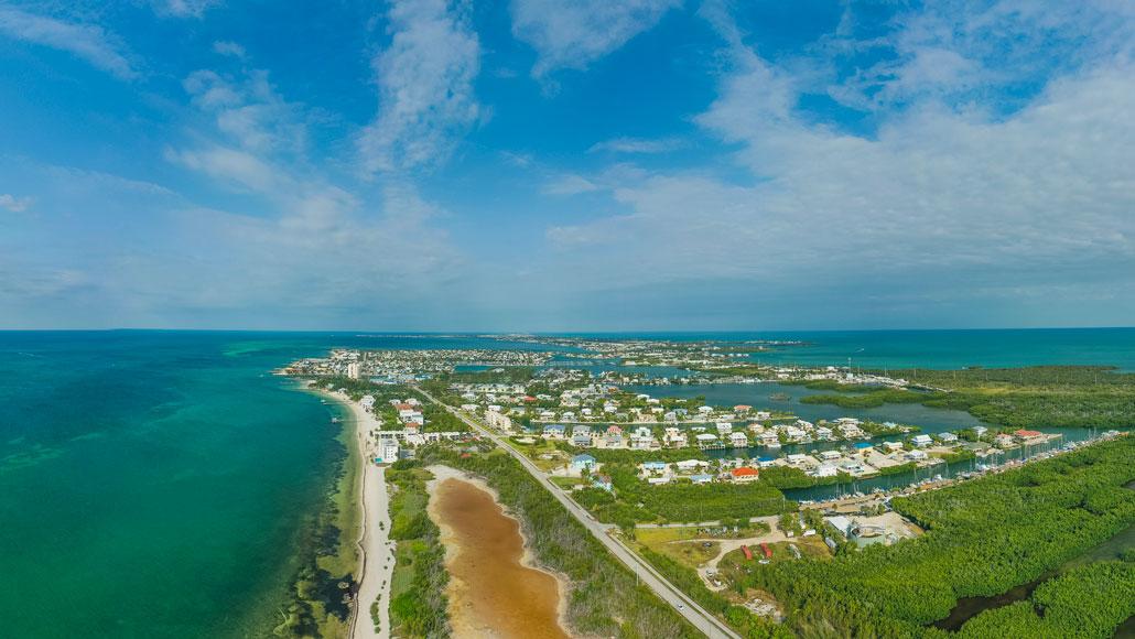 Aerial photo of Florida Keys