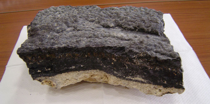 chunk of deep-sea crust