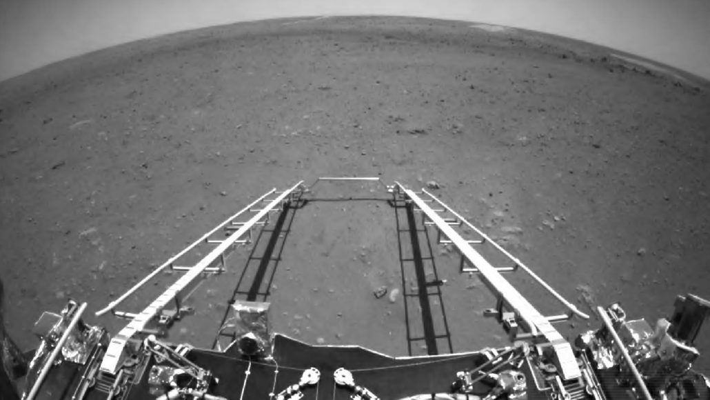 image of Martian surface from China's Zhurong rover