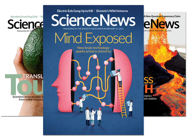 Science News magazine - covers - 2021