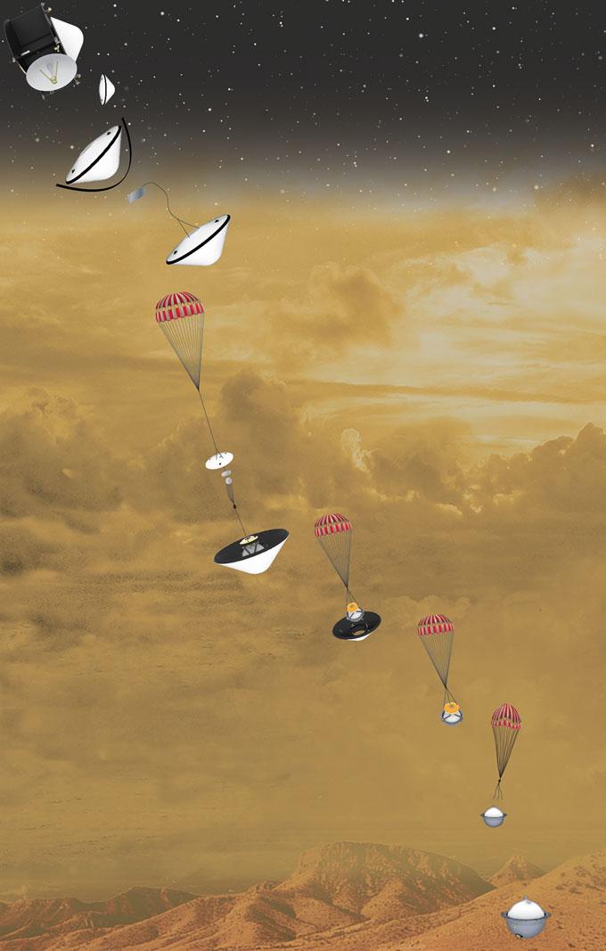 NASA DAVINCI+ probe illustrated