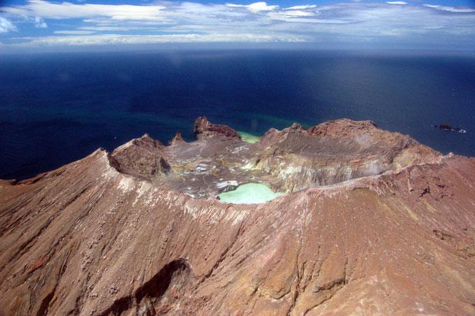 image of Whakaari crater