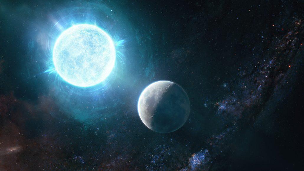 illustration of a newfound white dwarf star