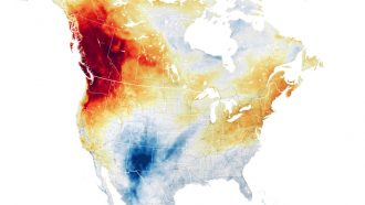 map of the heat wave that hit the Pacific Northwestern United States in June