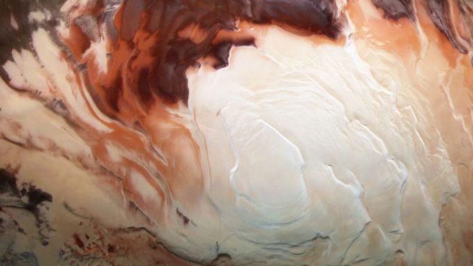 south pole of Mars