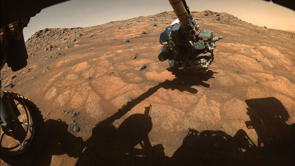 image of Perseverance rover's robotic arm