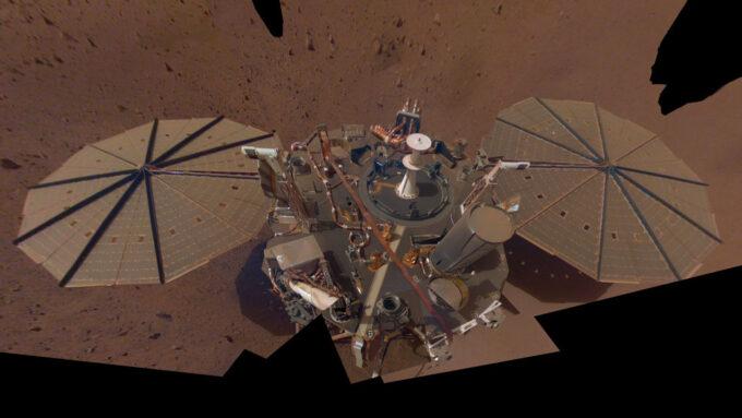 image of InSight Lander on Mars