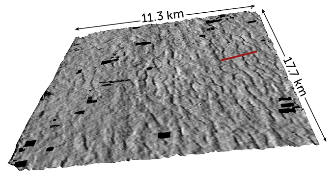seismic reflection image of underground megaparks