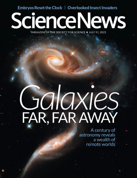 cover of the July 31, 2021 issue of Science News