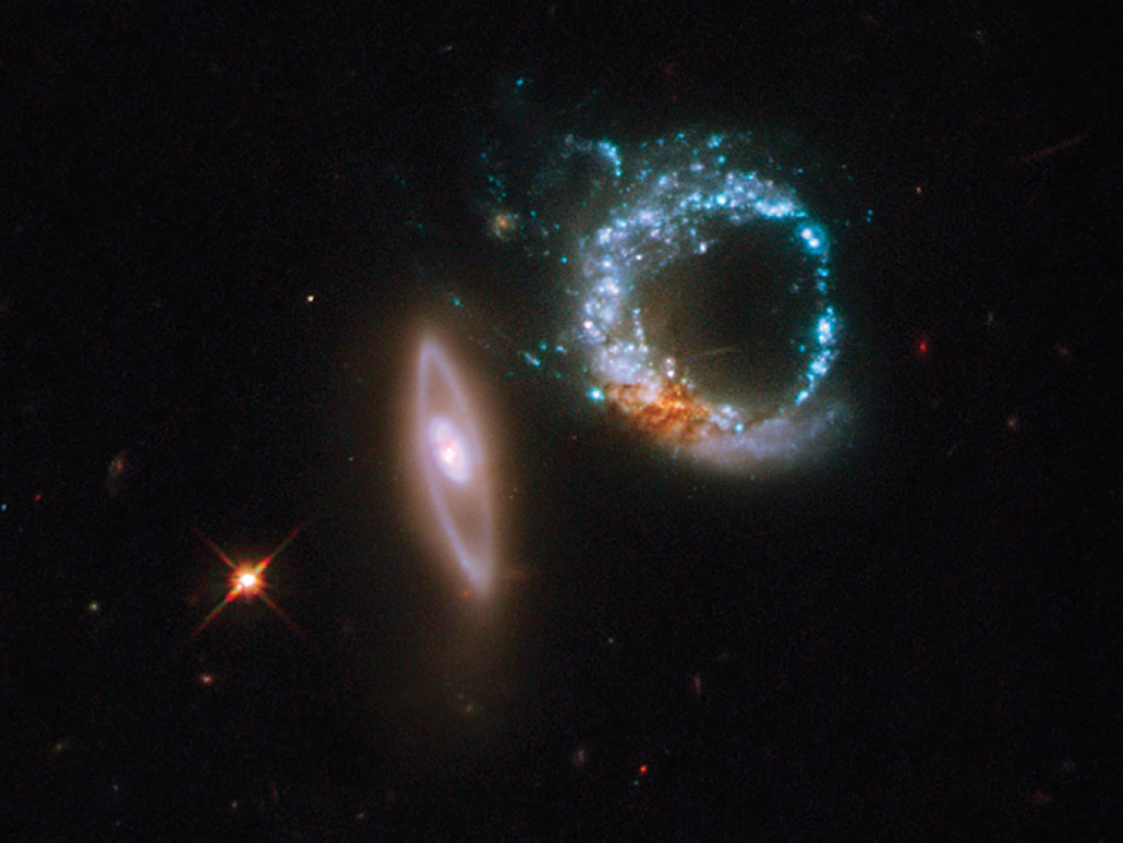 two ring-shaped galaxies