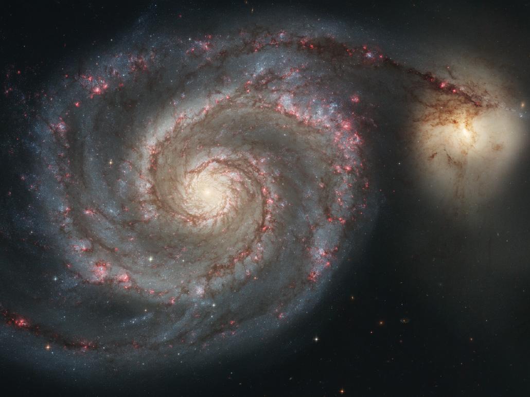 a spiral galaxy with very defined swirls