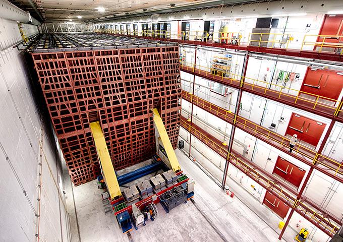 immagine di un rivelatore dall'esperimento del neutrino NOvA