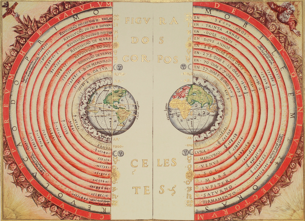 historical illustration of the Earth at the center of the universe