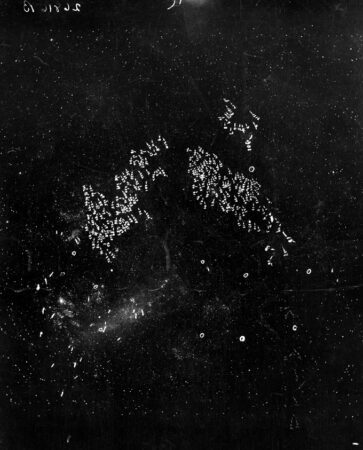 hand-drawn annotations on an image of the Large Magellanic Cloud
