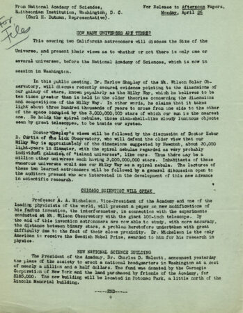 image of a the typewritten agenda from the great debate