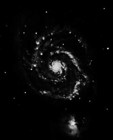 1910 image of a spiral galaxy