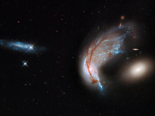 three galaxies