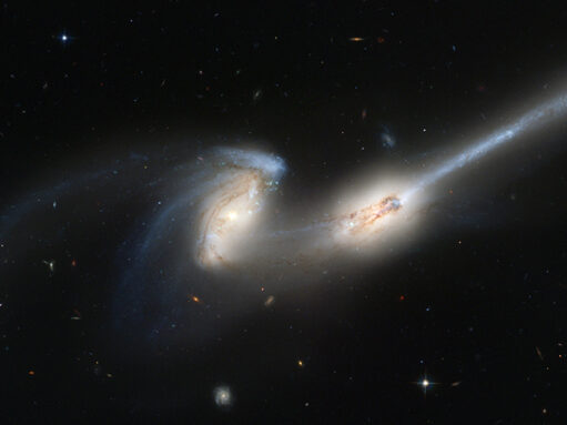two galaxies very close to each other