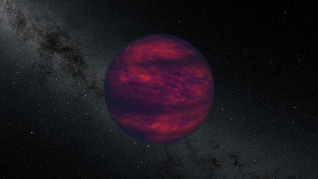 illustration of a brown dwarf