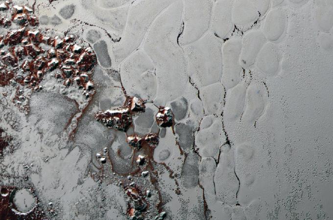 Sputnik Planitia region on Pluto
