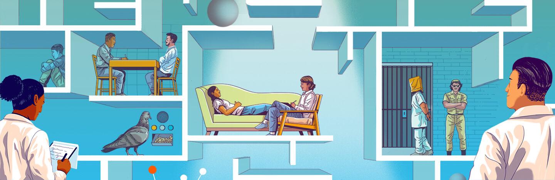 illustration of psychology experiments