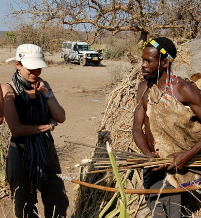 Scientist and Hadza pic