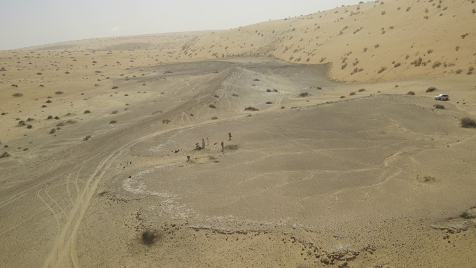 Khall Amayshan 4 site pictured from above