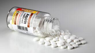 A bottle of aspirin
