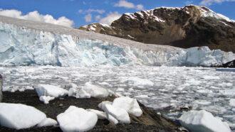 Pastoruri Glacier in the Peruvian Andes