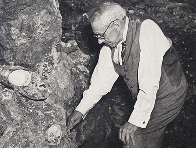 Robert Broom in cave