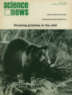 October 9, 1971 cover of Science News